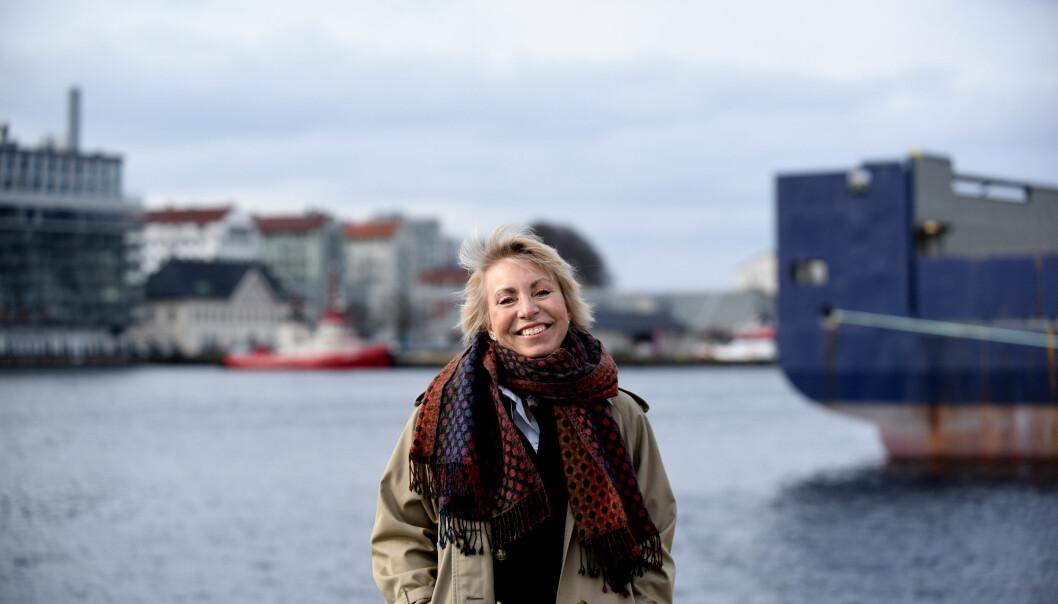 2016. Bergen. Lederintervju med ny direktør for Havforskningsinstituttet i Bergen, Sissel Rogne.  Foto: Gidske Stark