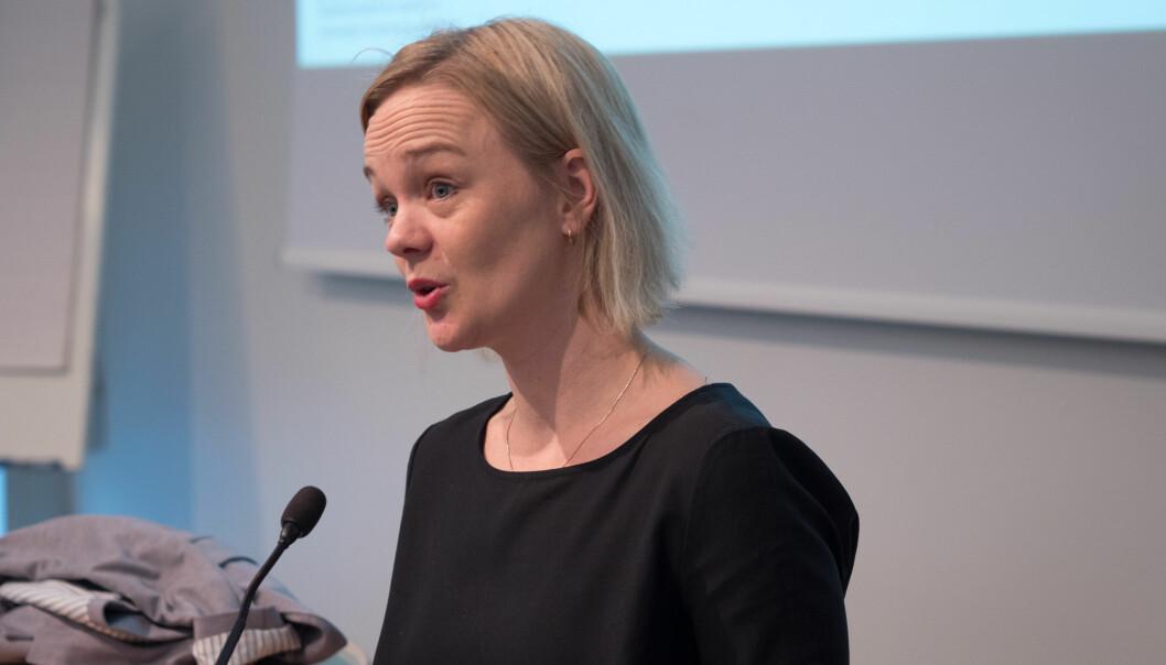 Ingvild Reymert, forsker ved NIFU, mener forskere ved instituttene har for lite tid og rom til å delta i den offentlige debatten. Foto: PetterBerntsen