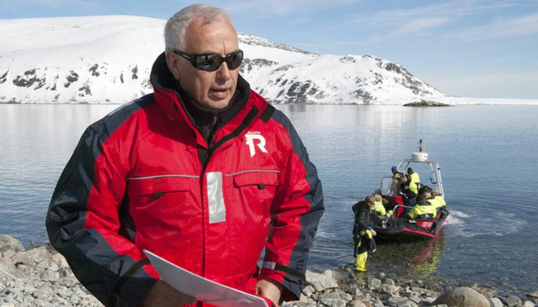 Paul Wassmann og kollegene i prosjektet ArcticSIZE forsker på den marginale issonen i Arktis. Foto: Karine NigarAarskog