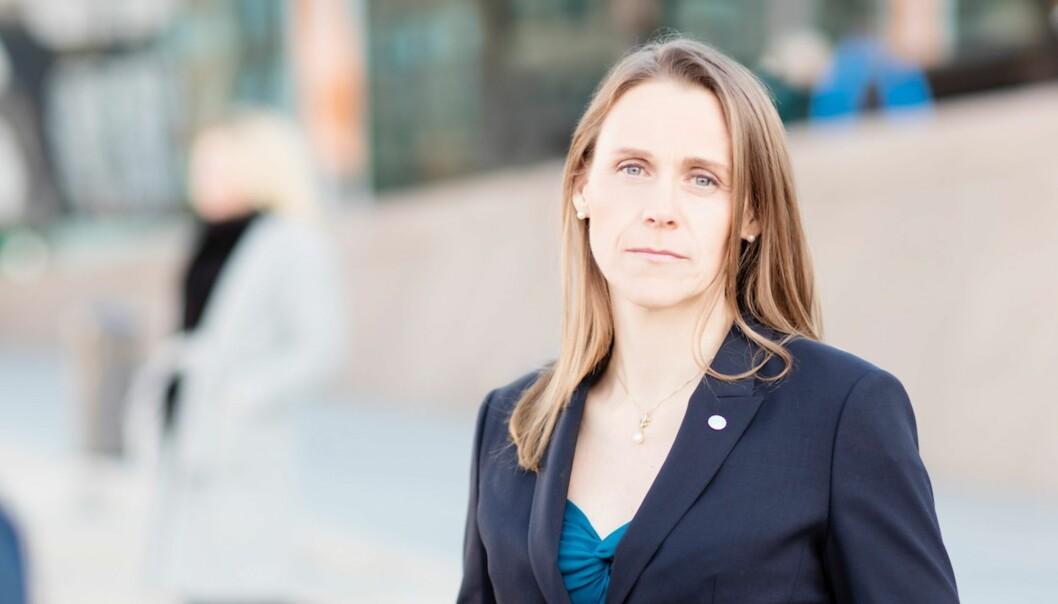 """Lise Lyngsnes Randeberg i Tekna er overrasket over regjeringens forslag til kutt i <span class=""""caps"""">FORNY</span>-programmet. Foto: Thomas Hofmann /Tekna"""