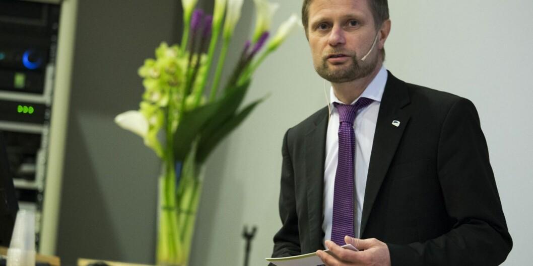 Helseminister Bent Høie, her under en konferanse om ungdom og psykisk helse. Foto: ØyvindAukrust