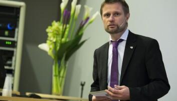 Helseminister Bent Høie. Foto: Øyvind Aukrust