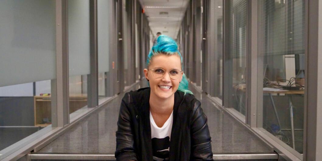 Charlotte Aschim i TotalCtrl har fått mye ut av Gründergarasjen til Simula på Fornebu, og har tro på hva noe tilsvarende kan bringe til Oslo. Foto: ØysteinFimland