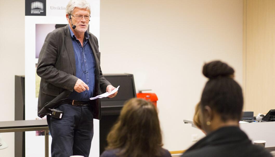 Professor Anders Breidlid var blant foredragsholderne på jubileumsseminar for masterprogram i flerkulturell og internasjonal utdanning på Høgskolen i oslo og Akershus. Foto: Øyvind Aukrust