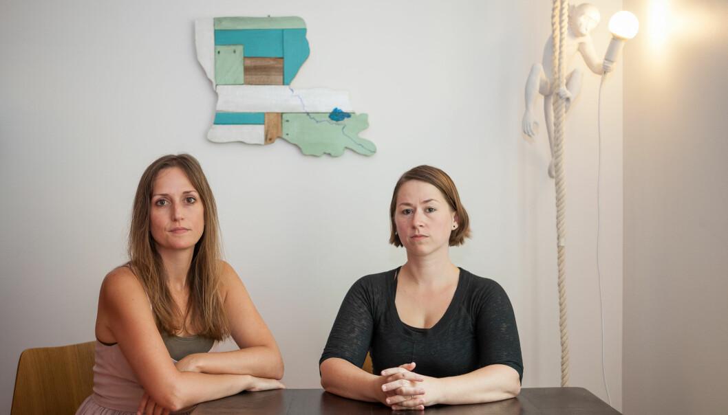 Professor Jessica Cantlon (t.v.) og Celeste Kidd ved Rochester unviersitet i New York, står på Årets navn 2017-liste til Times som Silence Breakers etter å ha vært sentrale varslere i en omfattende sak om trakassering . (Foto: Rachel Jerome Ferraro/The New York Times/ NTB scanpix)