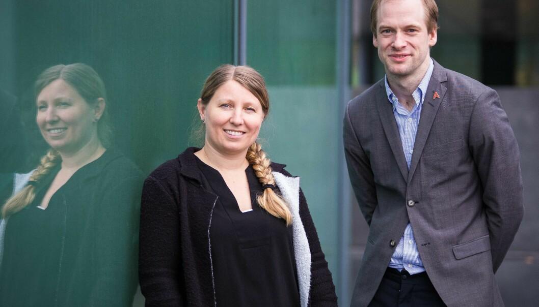 Guro Lind og Magnus Aronsen ble valgt som ledere av Akademiet for yngre forskere på generalforsamlingen 23.oktober. Foto: Siri Øverland Eriksen