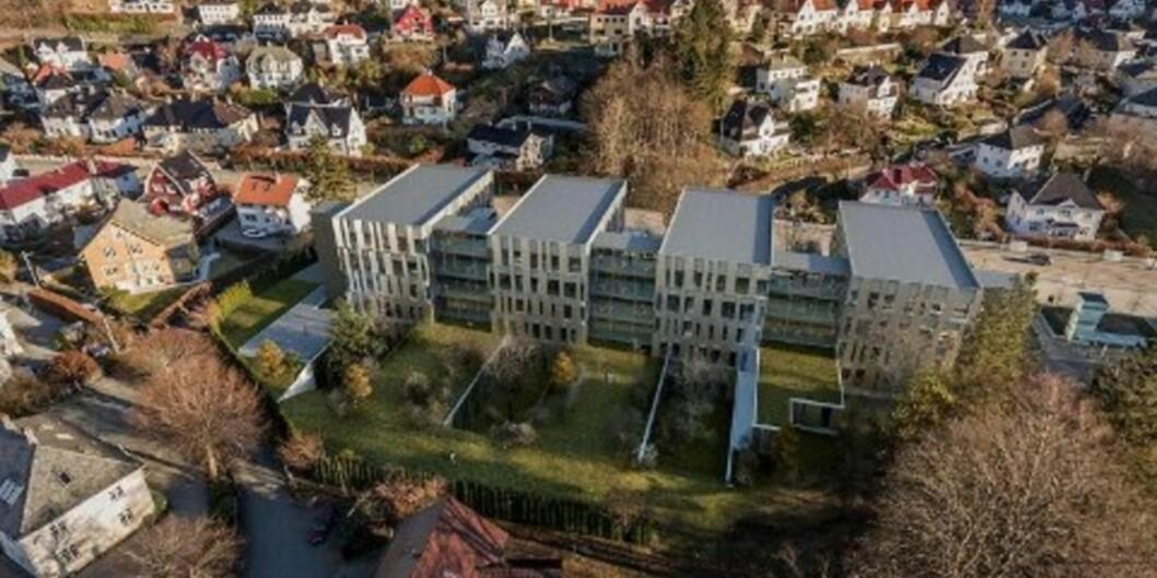 Slik kan helseklynga i Bergen bli.  Illustrasjon: Studio Gohde/B+BArkitekter
