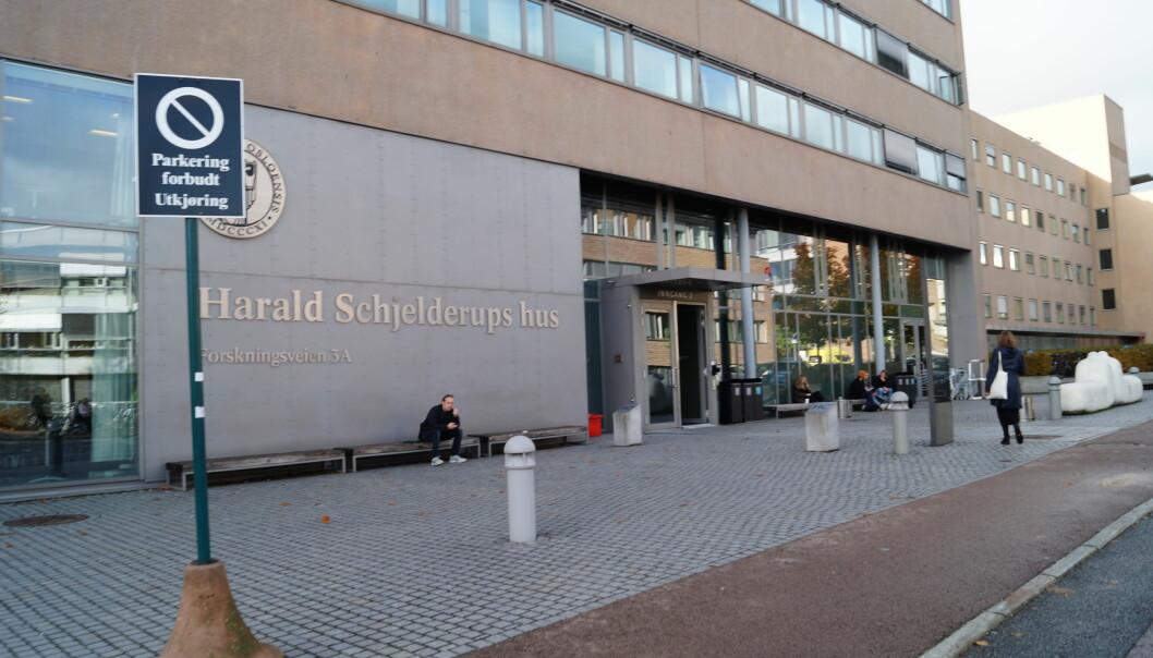 Klinikkene ved Psykologisk institutt ved UiO ble stengt på dagen fordi universitetsledelsen fryktet at det ble begått lovbrudd der. Foto: Brage Lie Jor