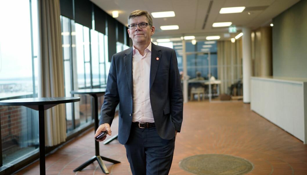 Rektor på Universitetet i Oslo, Svein Stølen,mener tidsplanen på gjennomføring av åpen publisering og Plan S, ligner litt på Jaglands 36,9. Foto: Ketil Blom Haugstulen
