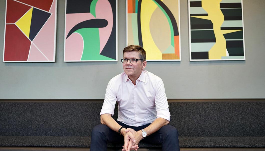 Rektor ved Universitetet i Oslo, Svein Stølen, sier han ønsker bedre kjønnsbalanse i lederstillingene veduniversitetet. Foto: Ketil Blom Haugstulen