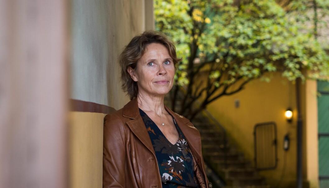 Instituttdirektør Hilde Lorentzen på NIBR mener at hennes institutt, mildt sagt, passer perfekt inn i planene om at Høgskolen i Oslo og Akershus skal bli etstorbyuniversitet. Foto: Petter Berntsen