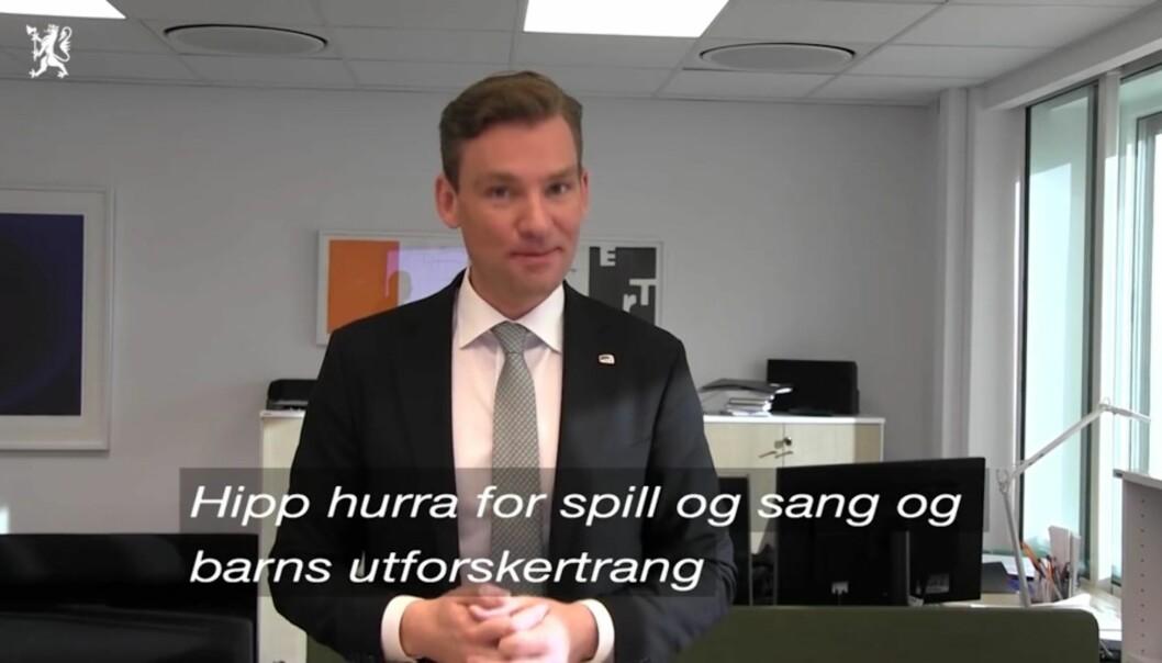 Henrik Asheim er fungerende kunnskapsminister mens Thorbjørn Røe Isaksen er i pappaperm.