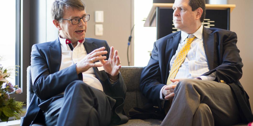 """<span class=""""caps"""">BI</span>-professor Torger Reve og Scott Stern, professor of Management of Technology på <span class=""""caps"""">MIT</span> lærte bort metode i regional utvikling, innovasjon og entreprenørskap til rektorer og ledelse iOsloregionen."""