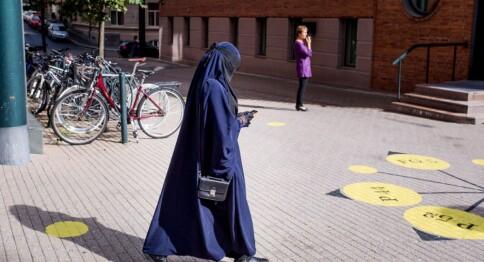 Isaksen med forbud mot niqab i høyere utdanning