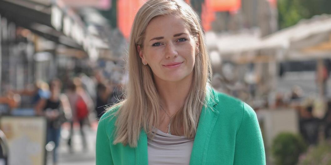 Emilie Enger Mehl (Sp) fikk vitnemålet to dager etter at hun kom inn på Stortinget. Foto:Senterpartiet