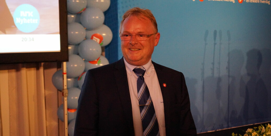 Tidligere fiskeriminister Per Sandberg gjestet OsloMet og journalistutdanningen denne uka, men er ikke fornøyd med etterspillet. Foto: Brage Lie Jor