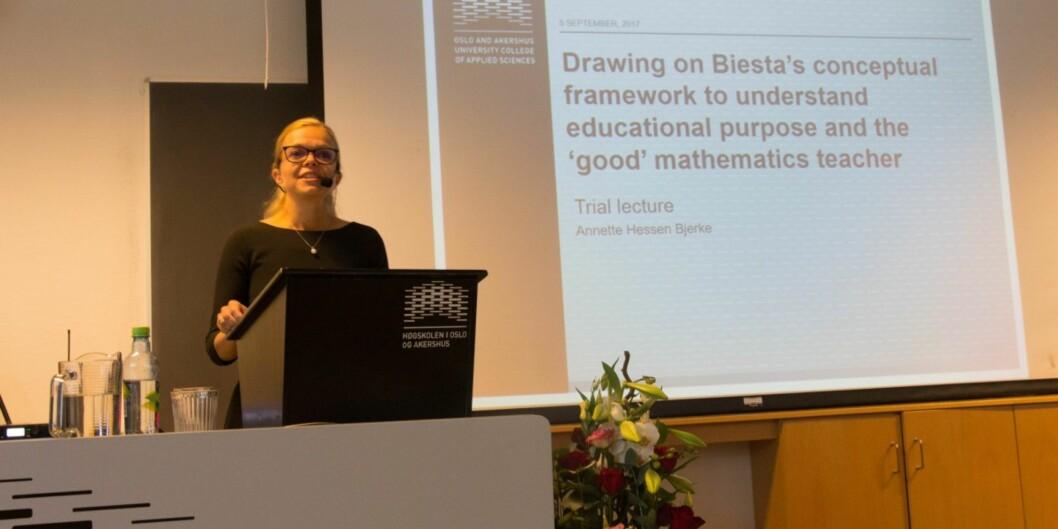 Annette Hessen Bjerke har gjort sitt doktorgradsarbeid på matematikkundervisningen i lærerutdanningen. Foto: Siv Tonje Håkensen,HiOA