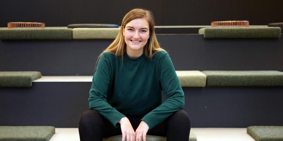 Julie Iversen stiller som læringsmiljøpolitisk ansvarlig i Norsk studentorganisasjon. Foto: Ketil Blom Haugstulen