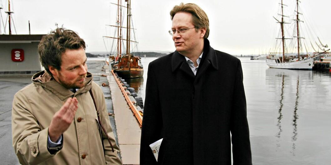 Torbjørn Røe Isaksen og Jan Arild Snoen, begge kritiske til Forskningsrådets terningkast.Arkivbilde. Foto: Mathismoen Ole