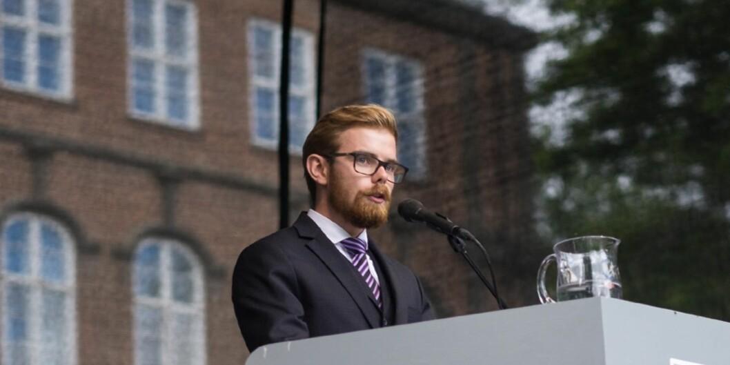 Med tanke på hvor mye tid man har brukt på universitetsnavnet, mener Jonas Wettre Thorsen at HiOA nok vil bli Norges nesteuniversitet. Foto: Ketil Blom Haugstulen
