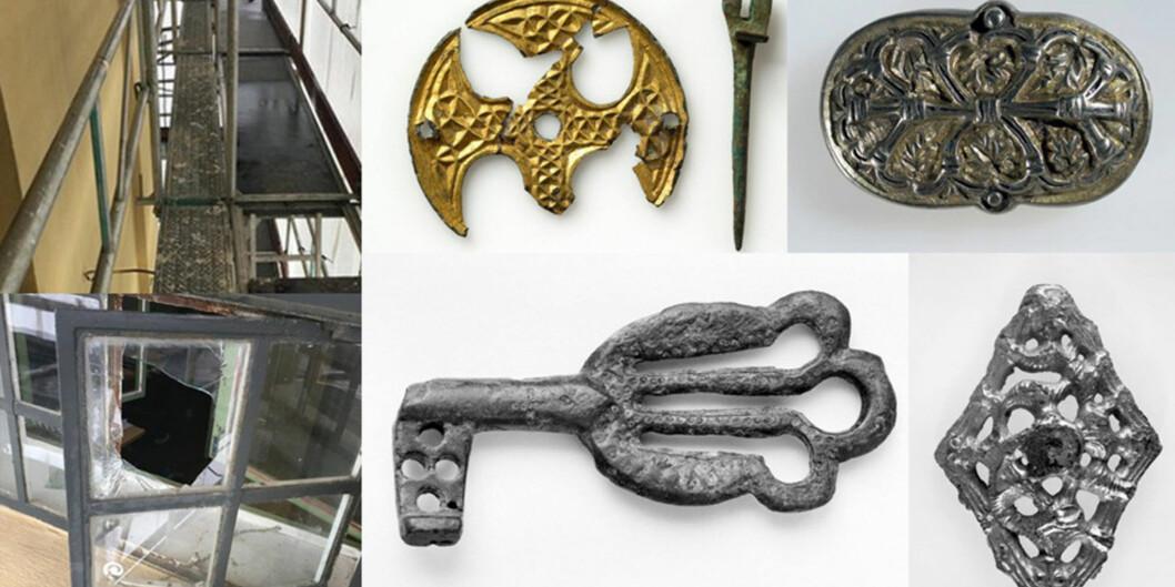 Mange av jenstandene fra vikingtiden og fra eldre og yngre jernalder var en del av en utstilling på De kulturhistoriske samlinger. Foto: Politiet ogUniversitetsmuseet