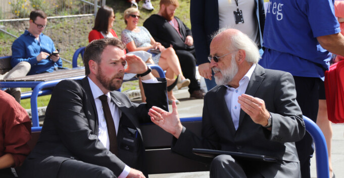 Åtte studiestarter på fire dager for rektor Aasen