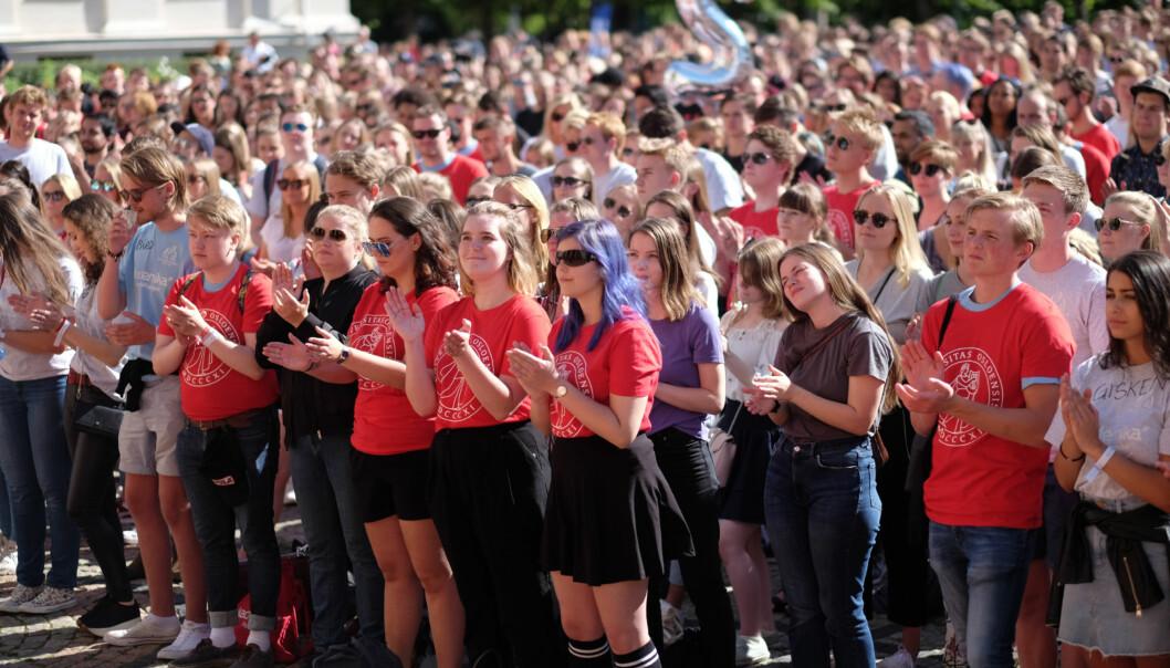 Hovedstadens studenter inviteres til studentslipp og gratis inngang en rekke steder i byen lørdag 19.august kl.11.00. Dagen avsluttes på Studentersamfundet Chateau Neuf. Foto: Ketil Blom Haugstulen