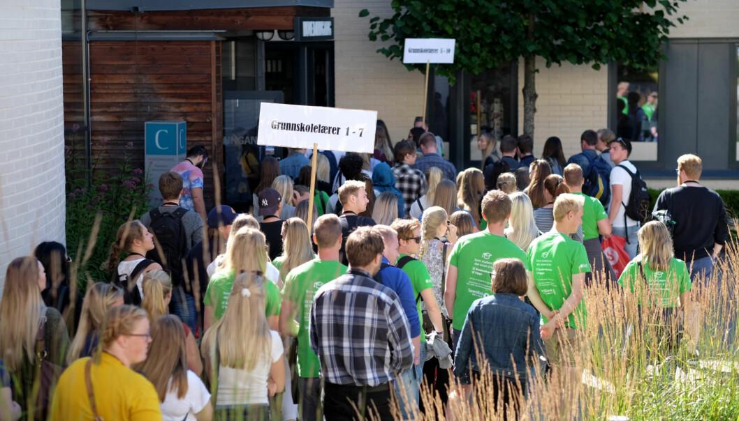 Studiestart, Høgskolen i Innlandet, Hamar. Foto: Ketil Blom Haugstulen