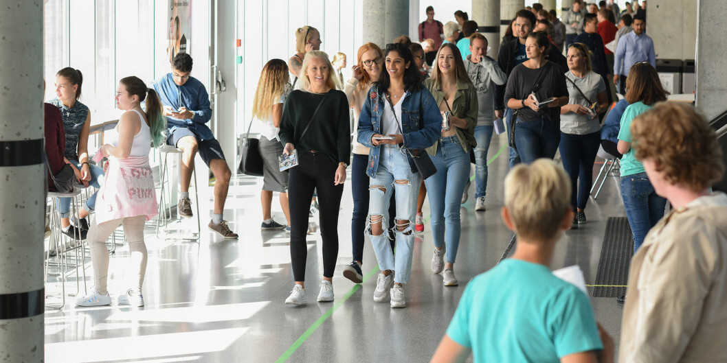 Studiestart for nye studenter ved Høgskolen i Østfold august 2017. Foto: Høgskolen i Østfold