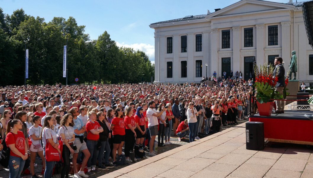 Studiestart, Universitetet i Oslo Foto: Ketil Blom Haugstulen