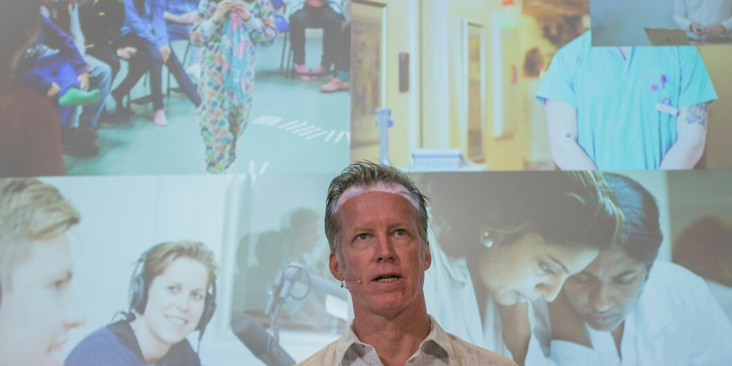 """<span class=""""caps"""">IBM</span> og Høgskolen i Oslo og Akershus med rektor Curt Rice i spissen samarbeider på et prosjekt om kunstigintelligens. Foto: Siri Øverland Eriksen"""