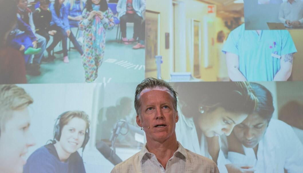 IBM og Høgskolen i Oslo og Akershus med rektor Curt Rice i spissen samarbeider på et prosjekt om kunstigintelligens. Foto: Siri Øverland Eriksen