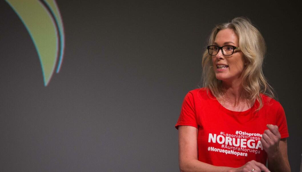 Anita Krohn Traaseth deltok i debatt om universitetene og høgskolenes rolle i innovasjon under Arendalsuka 2017. Foto: Siri Ø. Eriksen