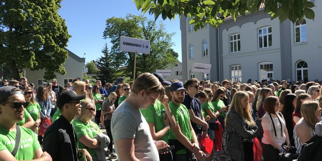 Lærerstudenter i Hamar klare for ny masterutdanning. Foto: Eva Tønnessen