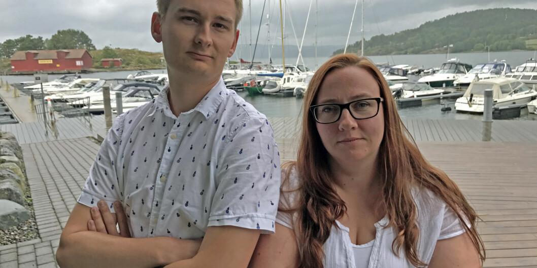 """Ny leder for sykepleierstudentenes forening <span class=""""caps"""">NSF</span> student, Christian Strømnes, sammen med studentstyremedlem KariBjerkli."""