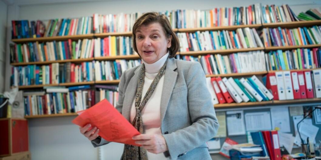 """Elizabeth Lanza er leder av MultiLing, et Senter for fremragende forskning (<span class=""""caps"""">SFF</span>) ved UiO. Foto: Skjalg BøhmerVold"""