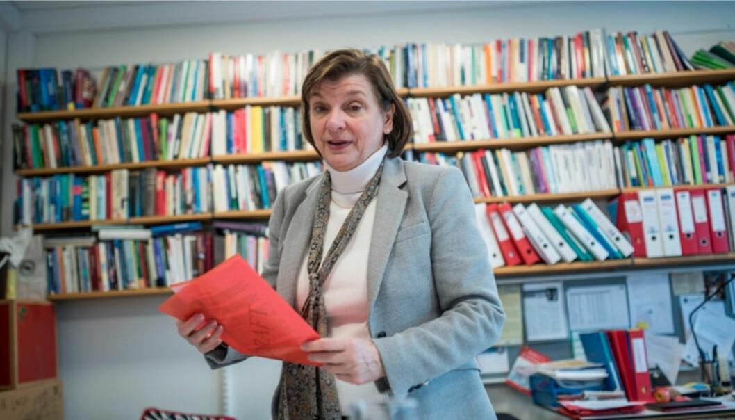 Elizabeth Lanza er leder av MultiLing, et Senter for fremragende forskning (SFF) ved UiO. Foto: Skjalg BøhmerVold