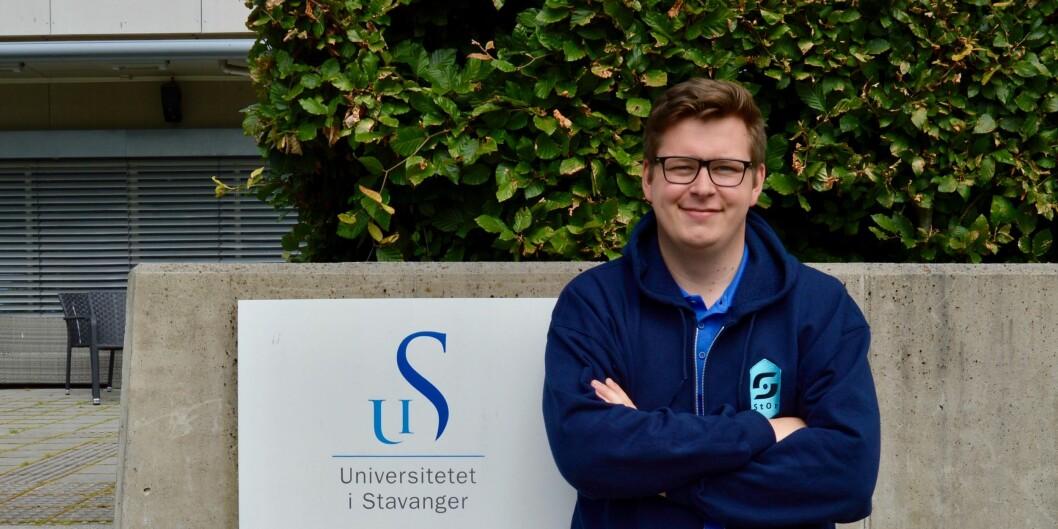 Studentleder i Stavanger, Jørgen Sjøberg, vil ha på plass en lov om læringsmiljø forstudenter.