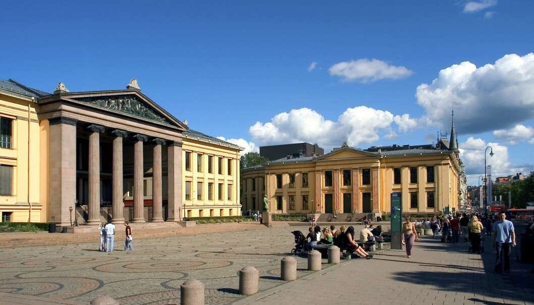 Hovedbygningen, Det juridiske fakultet ved Universitetet i Oslo.