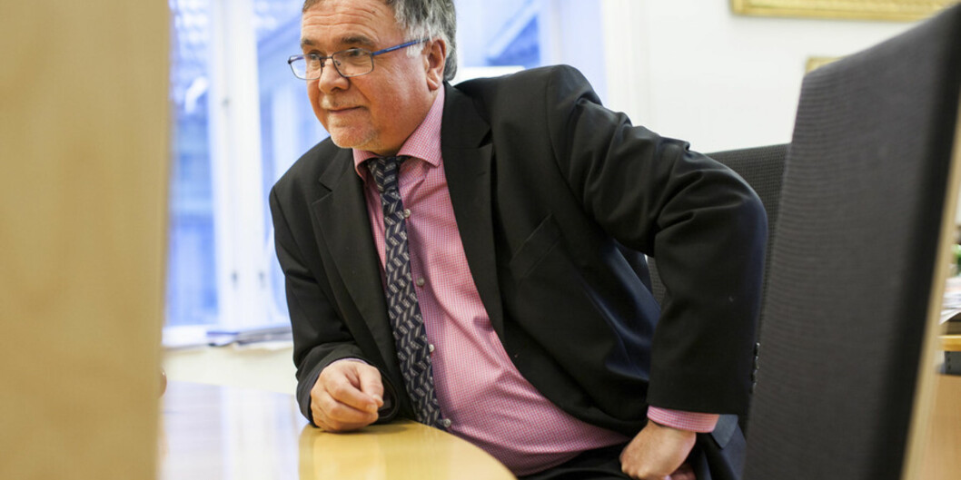 Kjell Bernstrømnyansatt universitetsdirektør Foto: Ingvild Festervoll Melien