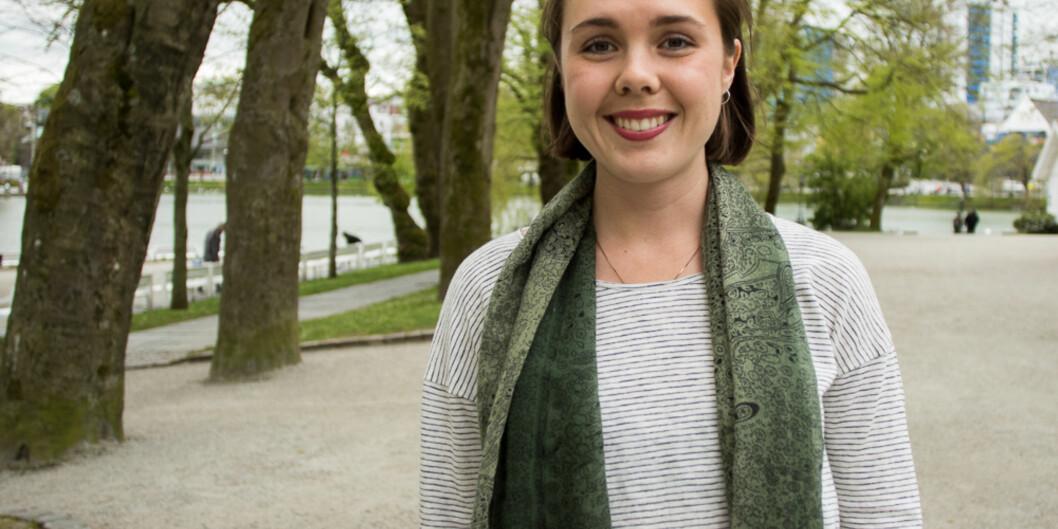 """Anna Kvam er førstekandidaten til <span class=""""caps"""">MDG</span> i Rogaland, hvor partiet hennes fikk 7,2 prosents oppslutning. <span class=""""caps"""">FOTO</span>: HelleGannestad"""