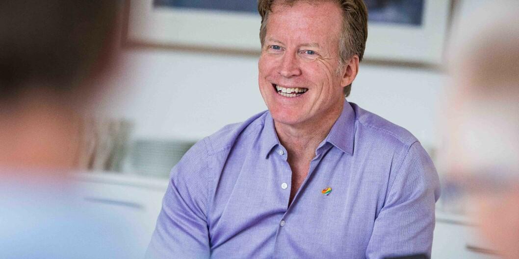 Rektor Curt Rice ved Høgskolen i Oslo og Akershus liker tanken om at høgskolen, snart universitetet, får en nasjonal rolle som leverandør av utdanning gjennom oppkjøp av Studiesenteret. Foto: Siri ØverlandEriksen