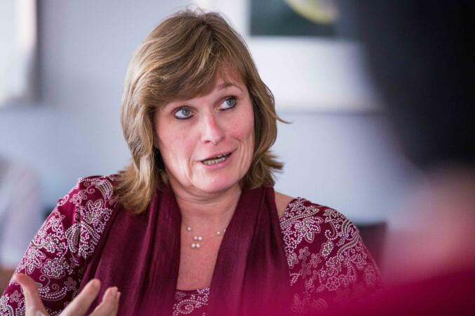 Viserektor for utdanning ved Universitetet i Bergen, Oddrun Samdal, forteller om positive erfaringer med mentor-ordning. Foto: Siri Øverland Eriksen