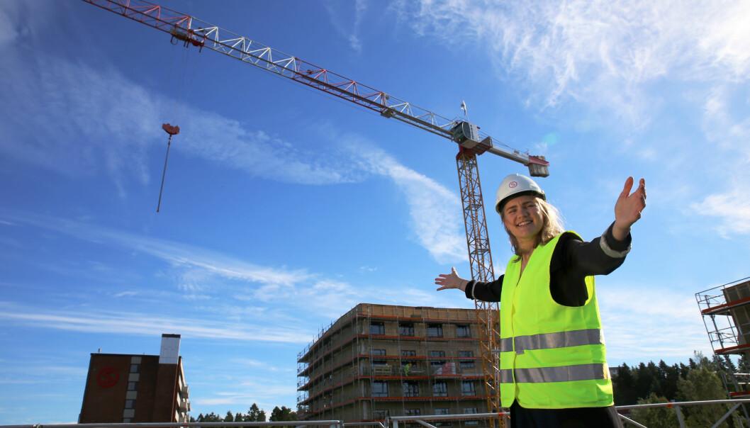 Styreleder i Studentsamskipnaden i Oslo og Akershus, Gabrielle Legrand Gjerdset, skal bruke semesteravgift på solceller. Foto: Unni Irmelin Kvam /SiO