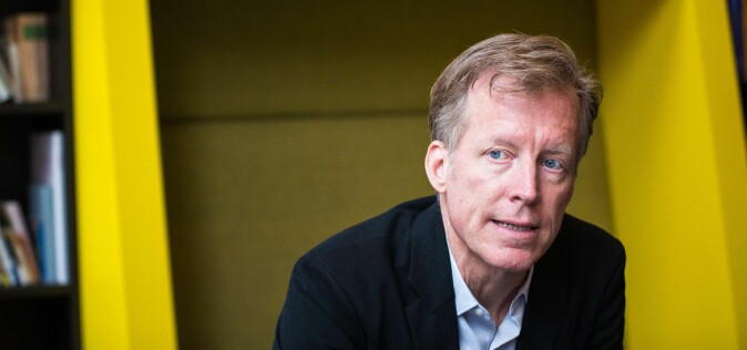 Rektor Curt Rice på Høyskolen i Oslo og Akershus, mener Språkrådet driver utidig innblanding . Foto: Siri Ø. Eriksen