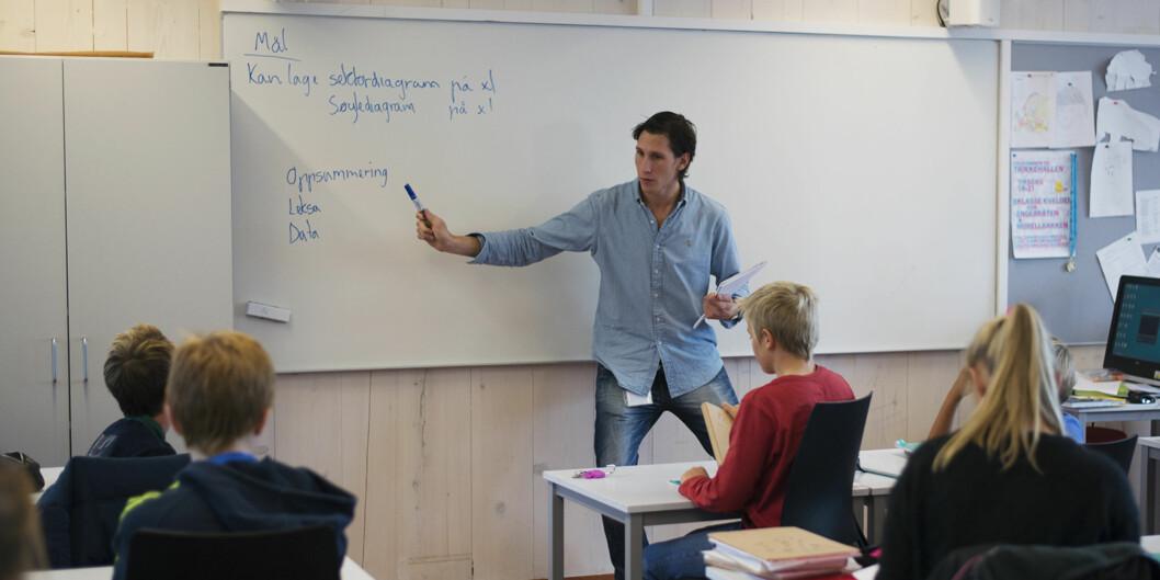 Illustrasjonsfoto: Sebastian Stephansen, lærer ved Morellbakken skole. Foto: Evelyn Andora Pecori