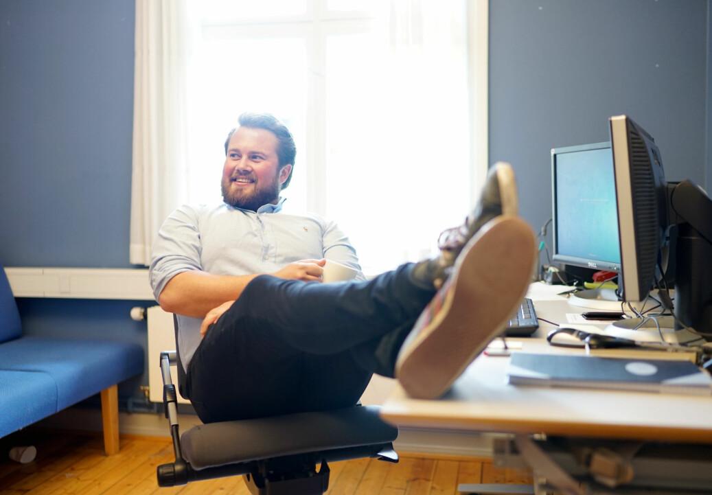 Jens Lægreid, leder for Studenparlamentet på Universitetet i Oslo. Foto: Ketil Blom Haugstulen