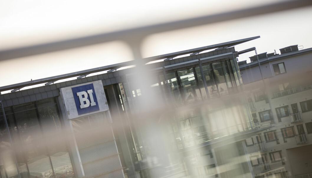 Handelshøyskolen BI er en av de fire vitenskapelige høgskolene som allerede har fått beskjed fra NOKUT om å sende inn dokumentasjon på hvordan de jobber med kvalitet. Foto: BI