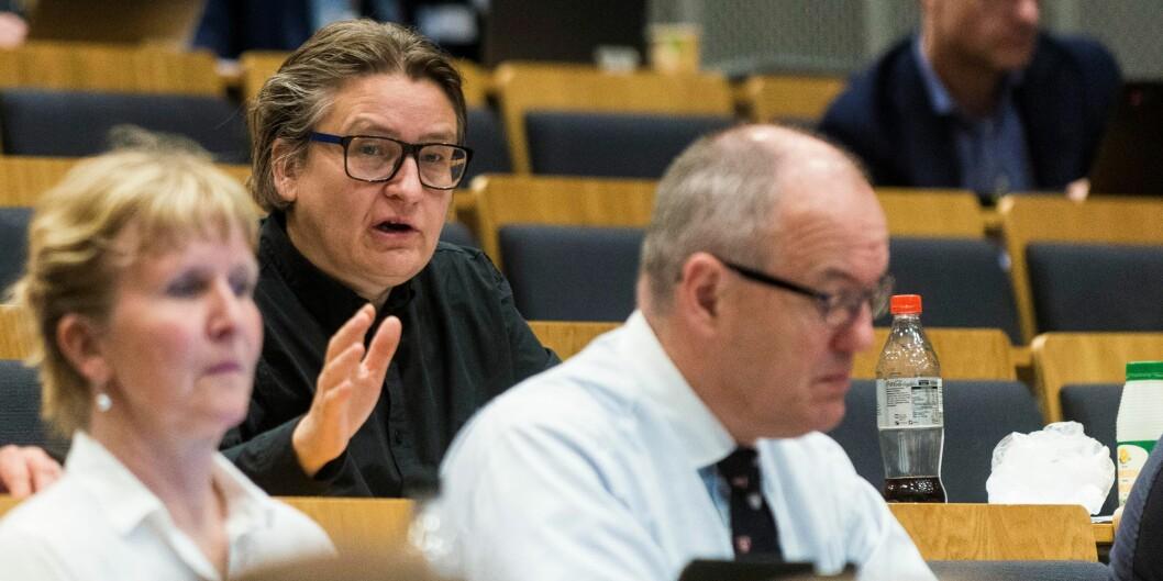 Det har ingen hensikt at Universitets- og høgskolerådet diskuterer felles innspill om utviklingsavtaler så lenge det er så stor uenighet i sektoren, sa prorektor ved Universitetet i Oslo, RagnhildHennum.