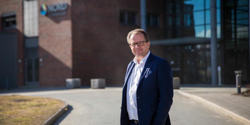 Rektor ved Nord universitet, Bjørn Olsen, ber om over hundre millioner kroner utenfor rammen. Foto: Siri ØverlandEriksen